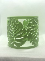 Party Lite Palm Leaf Jar Sleeve Metal . - $9.50