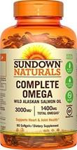 Sundown Naturals Complete Omega 1400 mg, 90 Softgels - $9.99
