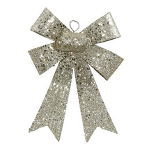 "7"" Champagne Sequin and Glitter Bow Christmas Ornament - tkcc - $21.95"