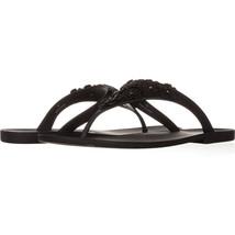 Nine West Vlora Flat Thong Jelly Sandals 650, Black, 7 US - $8.63