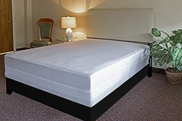 L' COZEE Bed Bug Proof Box Spring Encasement Cover, White