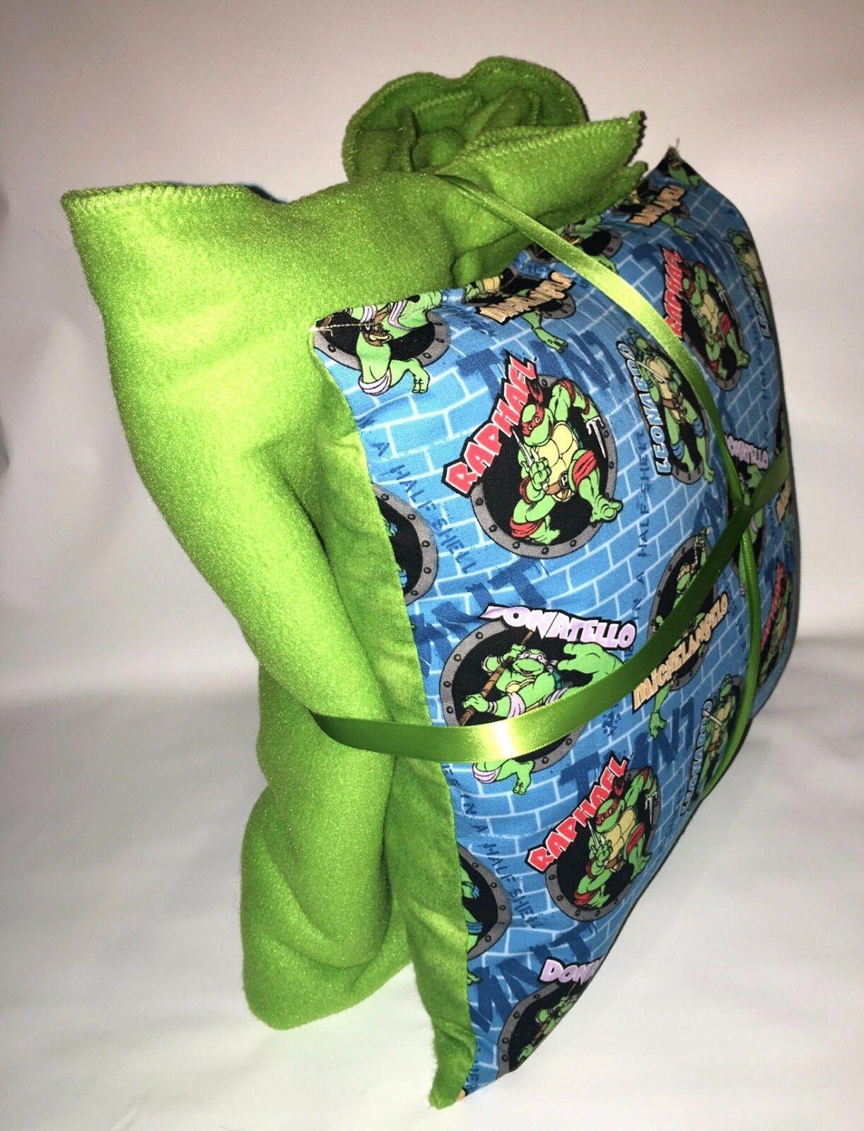 TMNT Pillow And Blanket Teenage Mutant Ninja Turtle Wall Pillow and Blanket Set image 2