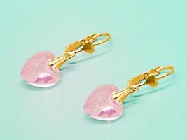 Heart Earrings for Women - Blush Pink Earrings - October Birthstone - Gi... - $13.95