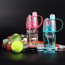 Sports Spray Water Bottle Straw Free Shipping - $176,67 MXN