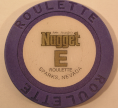 """1980's Roulette Chip From: """"John Ascuaga's Nugget Hotel & Casino""""- (sku#... - $2.99"""