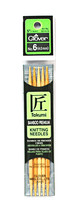Clover Takumi Bamboo 5 Inch Double Point Knitting Needle Size 6 - $14.36
