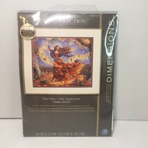 Fall Fairy Leftovers Cross Stitch Kit No Fabric Dimensions Gold Collection  - $14.50