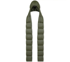 Rains Unisex Puffer Hooded 2007 Scarf Green Size OS - $90.09