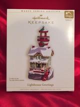 "2006 Hallmark ""Lighthouse Greetings"" Ornament - Santa and Mrs. Claus - 1... - $26.72"