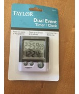 """Taylor Dual Event Digital Clock Timer Time 2 Things At Once 1.5"""" LCD Rea... - $9.74"""