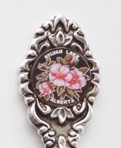 Collector Souvenir Spoon Canada Alberta Sylvan Lake Wild Rose Emblem - $9.99