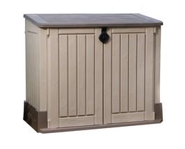 Keter Storage Shed Beige Brown 30 Cubic Feet Outdoor Backyard Garden Bra... - $164.33