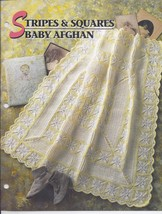 Stripes & Squares Baby Afghan Crochet Pattern~Annie's Quilt & Afghan Club - $14.99