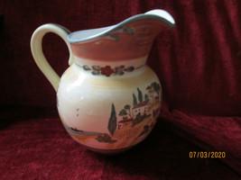 "Certified International Tuscan Landscape water pitcher 8 1/2"" 80 oz - $27.67"