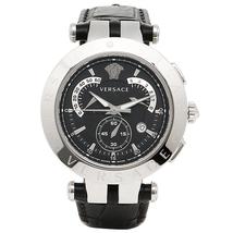 Versace 23C99D008S009 V race Chronograph Black Leather Men's Watch - $2,578.91