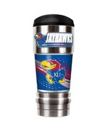 NCAA Kansas Jayhawks Stainless Steel MVP Double Wall Travel Tumbler Mug - $21.95