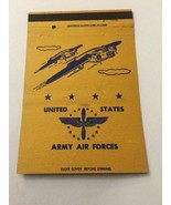 Vintage Matchbook Cover Matchcover United States US Army Air Forces Yellow - $4.28
