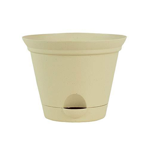 Primary image for Latte Quartz Self Watering Plastic Planters Flower Pot 7, 10 and 12 Inch Planter