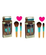 2 ECOTOOLS Boho Luxe MINI Makeup Brush 2pc Set Foundation Concealer & Powder NEW - $6.92