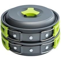 1 Liter Pot Camping Cookware Mess Kit Backpacking Gear Hiking Outdoors - $29.31