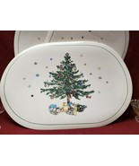 "Four (4) NIKKO China - CHRISTMASTIME Pattern - 17"" VINYL PLACE MATS - $49.95"