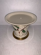 """Lenox Christmas Holiday Nouveau Square Candle Holder Gold Holly 3 1/2"""" - $15.00"""