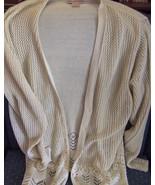 Woolrich Ecru Ladies Knit Cardigan Acrylic sz M... - $9.95