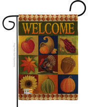 Autumn Collage Burlap - Impressions Decorative Garden Flag G163046-DB - $22.97