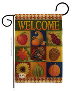 Autumn Collage Burlap - Impressions Decorative Garden Flag G163046-DB - $30.15 CAD