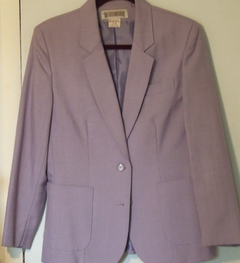 Worthington Ladies Lined two button Blazer Lavender sz 12
