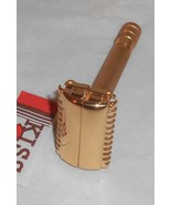 Gillette 1937 Sheraton Open Comb TTO Replated 24 Karat Gold XX2 - $155.00