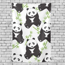 Arts Wall Decoration Giant Panda With Green Bamboo Pattern Tapestry Blan... - $26.00