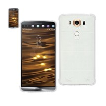 REIKO LG V10 MIRROR EFFECT CASE WITH AIR CUSHION PROTECTION IN CLEAR - $7.94