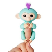 Fingerlings - Interactive Baby Monkey - Zoe (Turquoise with Purple Hair)... - $18.90