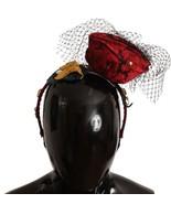 Dolce & Gabbana Red Roses Floral Crystal Silk Headband - $327.08