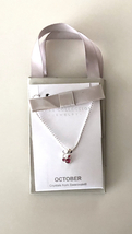 Disney Parks Mickey Mouse Faux Gem October Birthstone Necklace NEW - $24.90