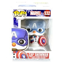 Funko Pop! Marvel Christmas Holiday Cap Snowman Captain America #532 Figure image 1