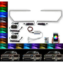 13-14 Ford F-150 Multi-Color Changing Led Rgb Headlight Halo Ring Bluetooth Set - $159.95