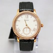 New GUESS U0642L3 Elegant Crystal Accented Stainless Steel Leather Women Watch  - $123.75
