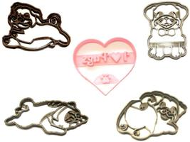 Pug Lover Wrinkly Dog Breed Pet Pup Puppy Set Of 5 Cookie Cutters USA PR... - $13.99