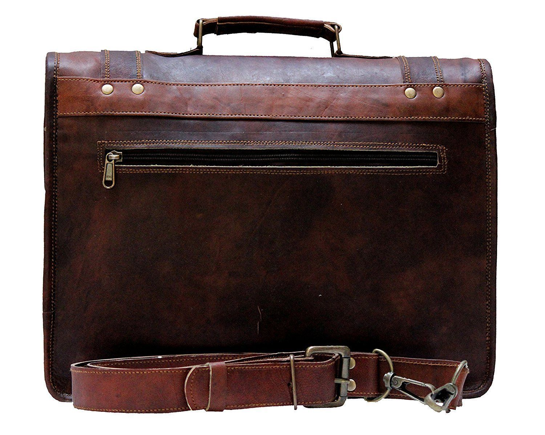 Handmade_World Men's Leather Messenger Bag Laptop Computer Handmade Bag image 9