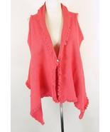 PURE Handknit Size S M Cotton Swing Sweater Vest - $19.99