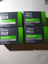 4 Dove Men + Care Extra Fresh Body And Face Bar Soap 4, 2.6 oz Bars - $15.67