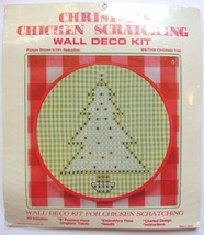 Christmas Pine Tree Wall Deco Kit NEW Chicken Scratching with 8 inch Hoop - $16.99
