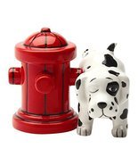 Pacific Trading Dalmation Dog with Fire Hydrant Ceramic Magnetic Salt & ... - £10.16 GBP