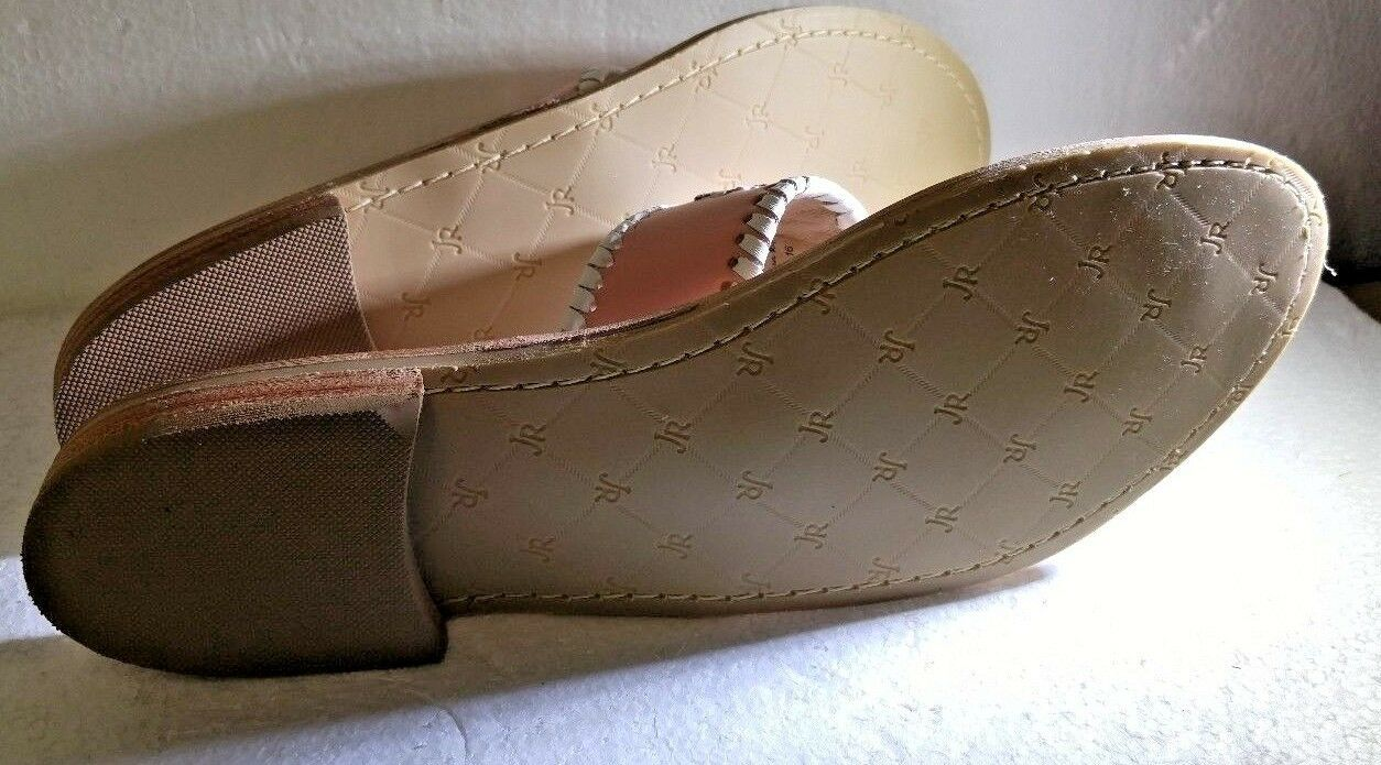 Jack Rogers Jacks Pretty in Pastel Sandals Blush Light Pink White Stitching 8.5M