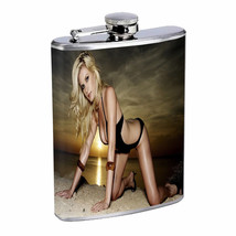 Polish Pin Up Girls D10 Flask 8oz Stainless Steel Hip Drinking Whiskey - $13.81
