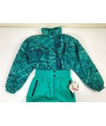 Snuggler Women's Vintage 80's Snow Suit Ski Turquoise Green Size 10 - $73.00