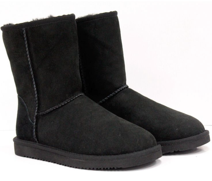 NEW Kirkland by Costco Kids Girls Black Shearling Sheepskin Boots Size 2