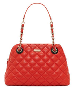 Kate Spade Georgina Quilted Poppy Red Leather Satchel - $158.39
